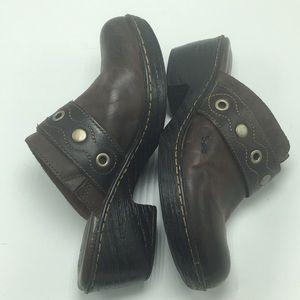 Born boc Leather Clogs, Size 8